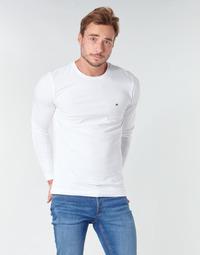 tekstylia Męskie T-shirty z długim rękawem Tommy Hilfiger STRETCH SLIM FIT LONG SLEEVE TEE Biały