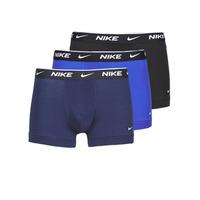 Bielizna Męskie Bokserki Nike EVERYDAY COTTON STRETCH Czarny / Marine / Niebieski