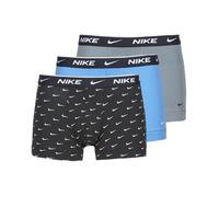 Bielizna  Męskie Bokserki Nike EVERYDAY COTTON STRETCH Czarny / Szary / Niebieski