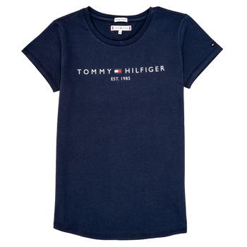 tekstylia Dziewczynka T-shirty z krótkim rękawem Tommy Hilfiger KG0KG05242-C87 Marine