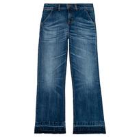 tekstylia Dziewczynka Jeansy straight leg Tommy Hilfiger KG0KG05199-1BJ Niebieski