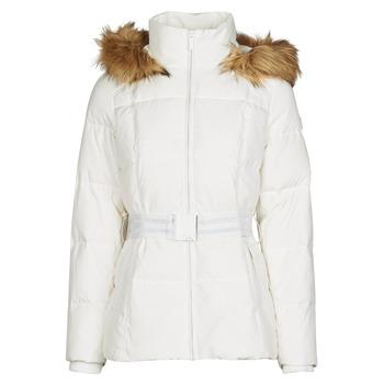 tekstylia Damskie Kurtki pikowane Morgan GORAL Off / Biały