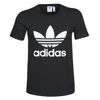 tekstylia Damskie T-shirty z krótkim rękawem adidas Originals TREFOIL TEE Czarny