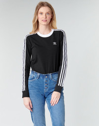 tekstylia Damskie T-shirty z długim rękawem adidas Originals 3 STR LS Czarny