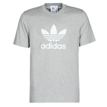 tekstylia Męskie T-shirty z krótkim rękawem adidas Originals TREFOIL T-SHIRT Bruyère / Szary / Moyen