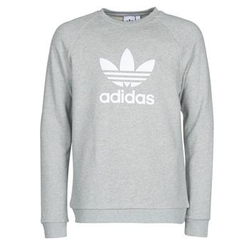 tekstylia Męskie Bluzy adidas Originals TREFOIL CREW Bruyère / Szary / Moyen