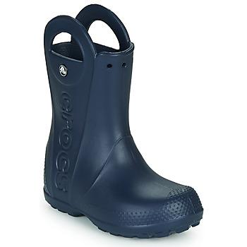 Buty Dziecko Kalosze Crocs HANDLE IT RAIN BOOT Navy