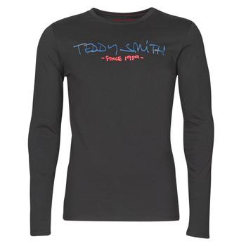 tekstylia Męskie T-shirty z długim rękawem Teddy Smith TICLASS BASIC M Czarny