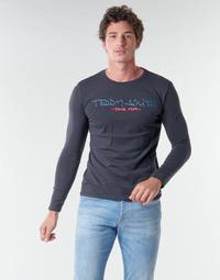 tekstylia Męskie T-shirty z długim rękawem Teddy Smith TICLASS BASIC M Marine