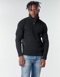 tekstylia Męskie Swetry Schott PLECORAGE2 Czarny