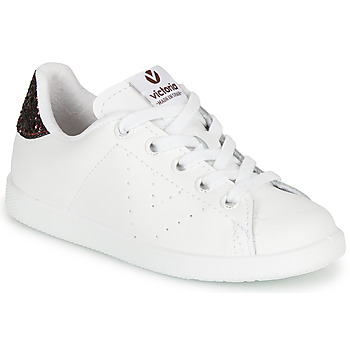 Buty Dziewczynka Trampki niskie Victoria TENIS PIEL Biały / Bordeaux