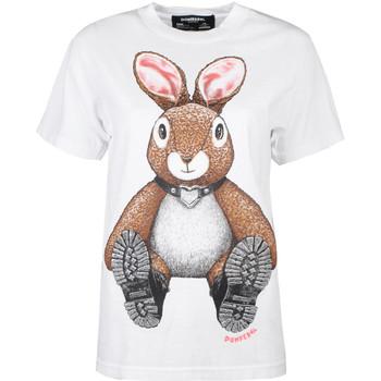 tekstylia Damskie T-shirty z krótkim rękawem Domrebel  Biały