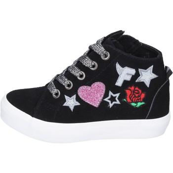 Buty Dziewczynka Trampki wysokie Fiorucci Sneakersy BM420 Czarny