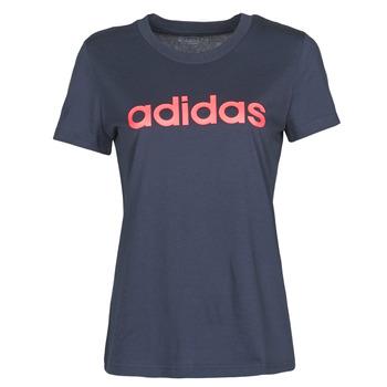 tekstylia Damskie T-shirty z krótkim rękawem adidas Performance W E LIN SLIM T Encre / Légende