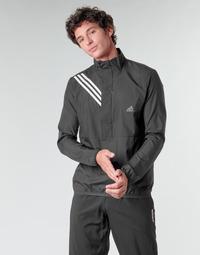 tekstylia Męskie Bluzy adidas Performance OWN THE RUN JKT Czarny