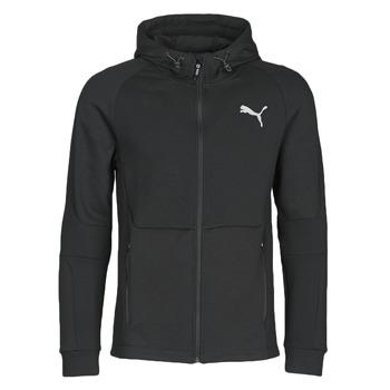 tekstylia Męskie Bluzy dresowe Puma EVOSTRIPE FZ HOODY Czarny