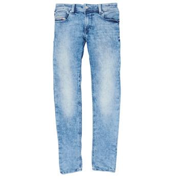 tekstylia Chłopiec Jeansy skinny Diesel SLEENKER Niebieski