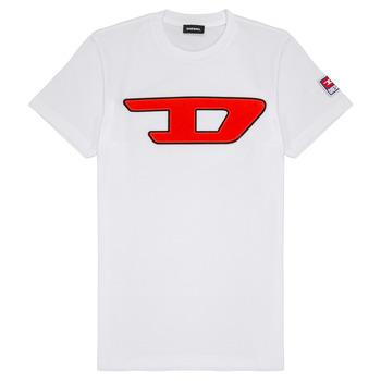 tekstylia Dziecko T-shirty z krótkim rękawem Diesel TJUSTDIVISION Biały