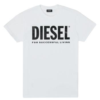 tekstylia Dziecko T-shirty z krótkim rękawem Diesel TJUSTLOGO Biały