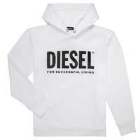 tekstylia Chłopiec Bluzy Diesel SDIVISION LOGO Biały