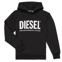tekstylia Chłopiec Bluzy Diesel SDIVISION LOGO Czarny
