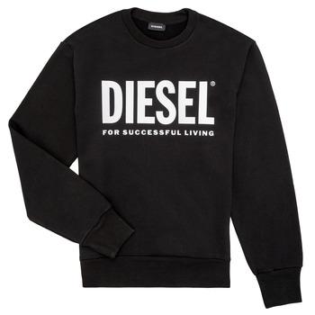 tekstylia Chłopiec Bluzy Diesel SCREWDIVISION LOGO Czarny