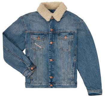 tekstylia Chłopiec Kurtki jeansowe Diesel JRESKY Niebieski