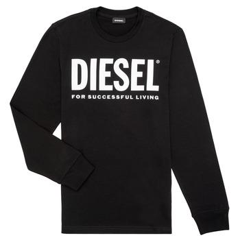 tekstylia Chłopiec T-shirty z długim rękawem Diesel TJUSTLOGO ML Czarny