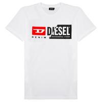 tekstylia Dziecko T-shirty z krótkim rękawem Diesel TDIEGOCUTY Biały