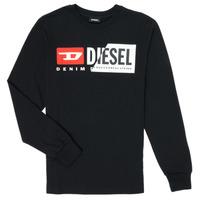 tekstylia Dziecko T-shirty z długim rękawem Diesel TDIEGOCUTY Czarny