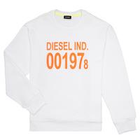 tekstylia Dziecko Bluzy Diesel SGIRKJ3 Biały