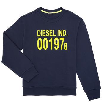 tekstylia Dziecko Bluzy Diesel SGIRKJ3 Niebieski