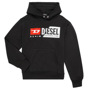 tekstylia Dziecko Bluzy Diesel SGIRKHOODCUTY Czarny