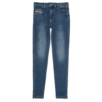 tekstylia Dziewczynka Jeansy slim fit Diesel D-SLANDY HIGH Niebieski