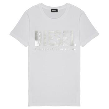 tekstylia Dziewczynka T-shirty z krótkim rękawem Diesel TSILYWX Biały