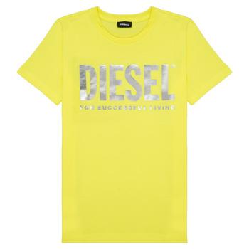 tekstylia Dziewczynka T-shirty z krótkim rękawem Diesel TSILYWX Żółty