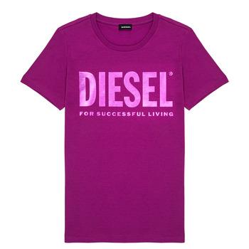 tekstylia Dziewczynka T-shirty z krótkim rękawem Diesel TSILYWX Różowy