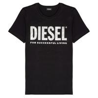 tekstylia Dziewczynka T-shirty z krótkim rękawem Diesel TSILYWX Czarny