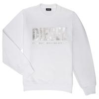 tekstylia Dziewczynka Bluzy Diesel SANGWX Biały