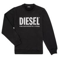 tekstylia Dziewczynka Bluzy Diesel SANGWX Czarny