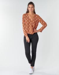 tekstylia Damskie Spodnie z pięcioma kieszeniami Freeman T.Porter ALEXA CROPPED S-SDM Czarny