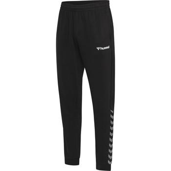 tekstylia Męskie Spodnie dresowe Hummel Pantalon  hmlAUTHENTIC noir/blanc