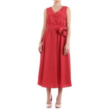 tekstylia Damskie Sukienki długie Fly Girl 9890-02 Czerwony