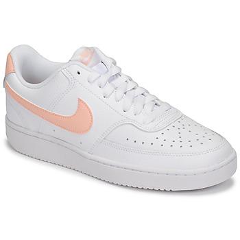 Buty Damskie Trampki niskie Nike COURT VISION LOW Biały / Różowy