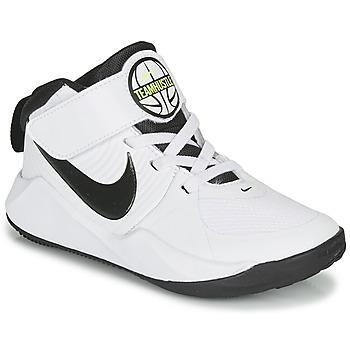 Buty Chłopiec Koszykówka Nike TEAM HUSTLE D 9 PS Biały / Czarny