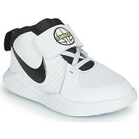 Buty Chłopiec Koszykówka Nike TEAM HUSTLE D 9 TD Biały / Czarny