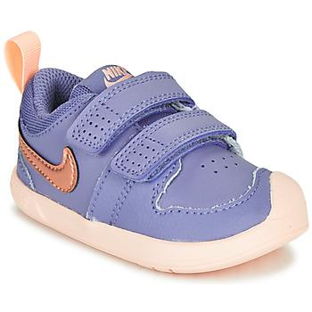 Buty Dziewczynka Trampki niskie Nike PICO 5 TD Fioletowy / Różowy