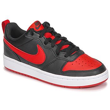 Buty Dziecko Trampki niskie Nike COURT BOROUGH LOW 2 GS Czarny / Czerwony
