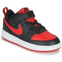 Buty Dziecko Trampki niskie Nike COURT BOROUGH LOW 2 TD Czarny / Czerwony