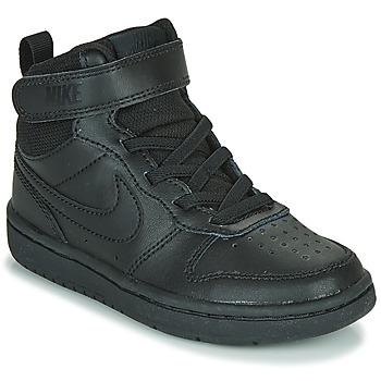 Buty Dziecko Trampki wysokie Nike COURT BOROUGH MID 2 PS Czarny